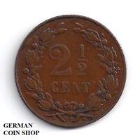 2 1/2 Cent Niederlande 1898 Kupfer - Netherlands