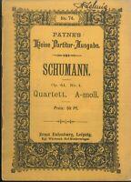 Taschenpartitur: SCHUMANN - Quartett A-moll Op. 41 No. 1