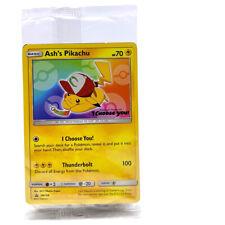 "SEALED Pokemon Ash's Pikachu SM108 Black Star ""I Choose You"" Promo Card TCG SM"