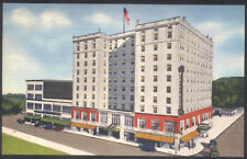 Vintage Daniel Boone Hotel Charleston West Virginia Linen Finish Postcard Unused