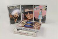 Vintage Country Cassette Tape Lot-Patsy Cline Ronnie Milsap Johnny Cash