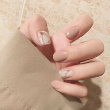 Fake Nails Full Nail tips design ringstone French square artificial nails glue