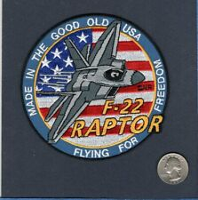 F-22 RAPTOR USAF Lockheed Martin FS Fighter Squadron Jacket Patch