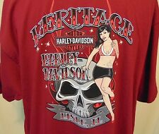 Harley-Davidson Mens 2XL Lisle Il Heritage T-Shirt Tee New W/Tags