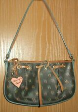 DOONEY & BOURKE Multi Color Coated Canvas Leather Baguette Small Handbag