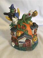 Ceramic Halloween Pumpkin ghost witches Jack O Lantern