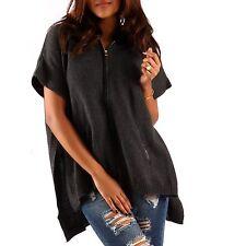 Damen-Pullover & Mittel mit Kapuze und Reißverschluss