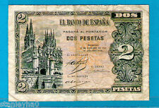 Ex RARA ESPAÑA/Burgos P105 2 PESETAS CATEDRAL ofburgos rgenecy 12.10.1937 AVF +