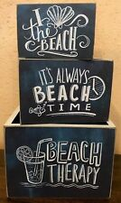 Set Of Three Wooden Boxes - Beach Therapy PBK 24012