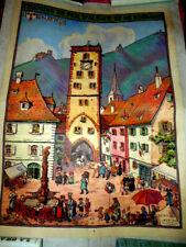 HANSI affiche originale1924 RIBEAUVILLE Chemins de fer d'Alsace et de Lorraine