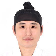 Korean traditional men's hair wig Topknot hairstyle Sangtu