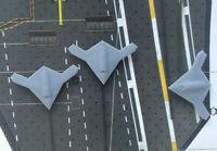 3 Stücke 1:700 USA Flugzeug X47b mit Abzeichen Wasserabziehbilder