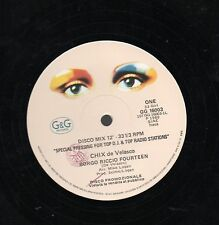 """CHIX de VELASCO disco MIX 12"""" maxi MADE in ITALY 80 Borgo Riccio fourteen PROMO"""