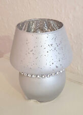 NEU 2x Windlicht Lampe Teelicht Kerzenhalter Rosenmotiv Glas Sommerfest Garten