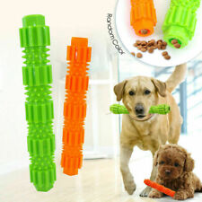 Interactive Dog Chew Toy Rubber Pet Molar Stick Teeth Cleaning Bite Chewers Toys
