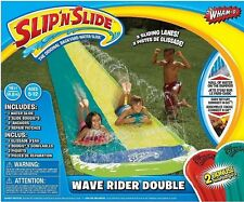 New Slip 'n' Slide Mega Double Slides Deluxe Backyard Water Racer 4.8 m Slide