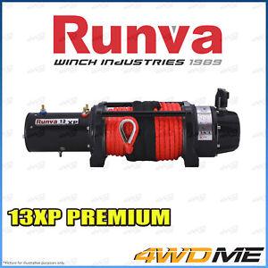 RUNVA 13XP Premium IP67 WATERPROOF 24V W/DYNEEMA ROPE Recovery Winch + Extras