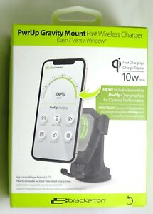 Bracketron PwrUp 10W Qi Fast Wireless Charge Dash Car Mount for iPhone 12/11/XR