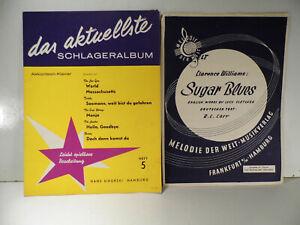 Schlager - Noten  Klavier/ Akkordeon und Text für Gesang 7 Stücke