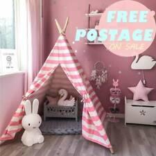 Große Rosa Tipi für Kinder Mädchen Baumwolle Zelt Spielzeug für draußen
