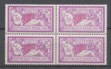 FRANCE MERSON Bloc de 4 N°240 3f lilas et carmin N*et N** Signé C 462€ P1951