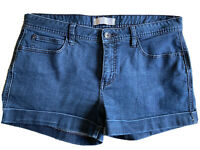 Jeanswest size 14 Relaxed Fit Blue Denim Shorts Rolled cuff