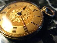 Antique Open Face 18k Yellow Gold Pocket Watch