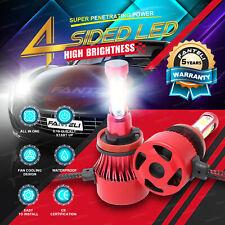 H11 H8 H9 6000K 2360W 354000LM 4-Side LED Low Beam Headlight Kit White Bulb Pair