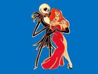 Fantasy Pin - Disney Jessica Rabbit & NBC Jack Skellington Dancing  LE50