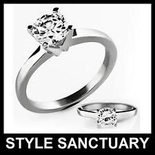 Engagement Ring Ladies Womens Cubic Zirconia Stone Wedding Eternity Commitment