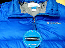 Columbia Frost Fighter Jacket Blue Nylon Water Resistant Coat NWT $150 ~L~ Large