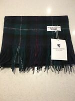 Mackenzie Tartan Check pure cashmere scarf new with tags warm