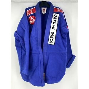 GRACIE BARRA KIMONO MARTIAL ARTS JIU JITSU Blue Patch Jacket A3