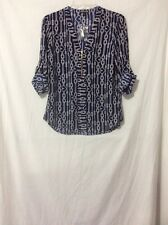 NWT Express Rope Heart Zip Front Top Blouse - S