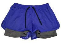 CHAMPION C9 Women's Size M Activewear Shorts Blue Gray Black Drawstring