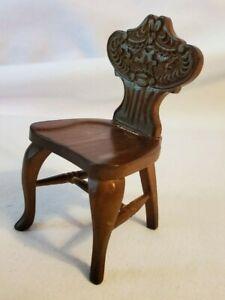 Vintage Miniature Dollhouse Accent Chair 1:12