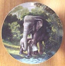 Asian Elephant 4th Issue Endangered Species Limited Edition Collector Plate