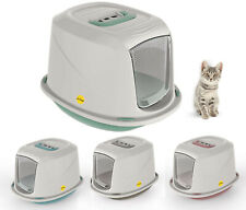 More details for cat hooded litter tray kitten small toilet box filter flap door galaxy catcentre