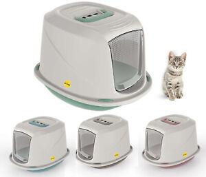 Cat Hooded Litter Tray Kitten Small Toilet Box Filter Flap Door Galaxy CatCentre