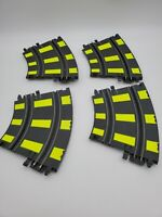Vintage ARTIN 1/43 Slot Car Track 2 Lane Banking Curve Track 4 PIECES Yellow