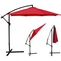 New 10' Patio Umbrella Offset Hanging Umbrella Outdoor Market Umbrella D10