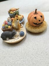 3 Yankee Candle Jar Toppers, Pumpkin,  Fall Harvest & Kittens