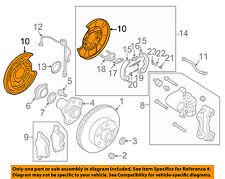 NISSAN OEM Rear Brake-Backing Plate Splash Dust Shield 44020AL510