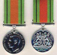 "008 ""The Defence Medal"" - 1939/1945 Giorgio VI° - argentata per uniforme da gala"