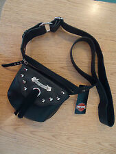 Harley-Davidson® Womens Black Fringe Belt Bag Leather - FR3674L NEW