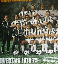 SPORT_CALCIO_CALCIATORI_JUVENTUS_1978-1979_CAMPIONATO_GRANDE POSTER ILLUSTRATO