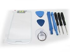 WHITE DIGITIZER OUTER GLASS LENS SCREEN SAMSUNG GALAXY S3 SIII i9300 i747 TOOLS