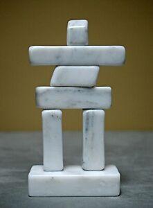 Inukshuk marble figurine