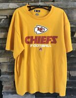 Men's - Short Sleeve - NFL - Shirt - KC Chiefs Football - Yellow - Sz L