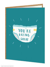 Brainbox Candy funny 'You're Doing Great' New Baby card novelty cheeky joke